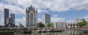 """der erste Wolkenkratzer der Niederlande gebaut: das """"Witte Huis"""" (""""Weiße Haus""""). Foto Pixabay"""